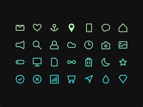 minimalist icons minimal icon set sketch freebie free resource