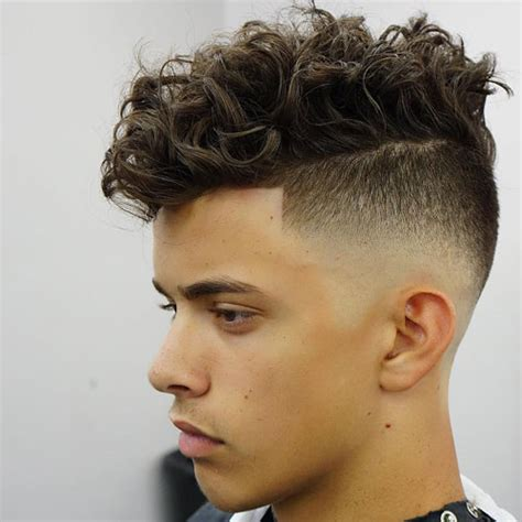 fade haircut lengths high skin fade messy medium length curly hair medium mens