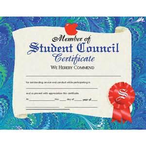 member of student council certificate va530 hayes