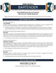 Free Bartender Resume Templates this free sle was provided by aspirationsresume