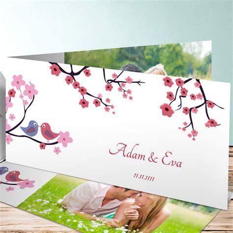 Hochzeitseinladung Vogel by Hochzeitseinladung V 246 Gel Mit Bl 252 Ten Auf Baum
