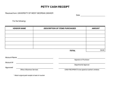 Receipt Form Template by Receipt Form Exles Vatansun