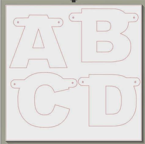 outline alphabet banner letters peppermint alphabet templates org