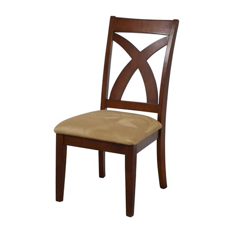 Buy Dining Chairs 87 Cross Back Wood Chair With Padded Seat Chairs