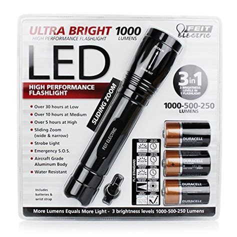 New Feit Electric Lu150 feit electric new ultra bright high performance led torch flashlight 1000 lum