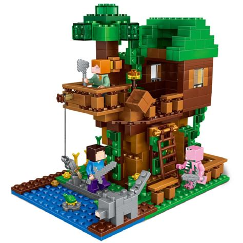 Lego 9556 Gangsing Plastic Lele Moc 406pcs enlighten mine world minecrafted minifigures the tree house building blocks brick my