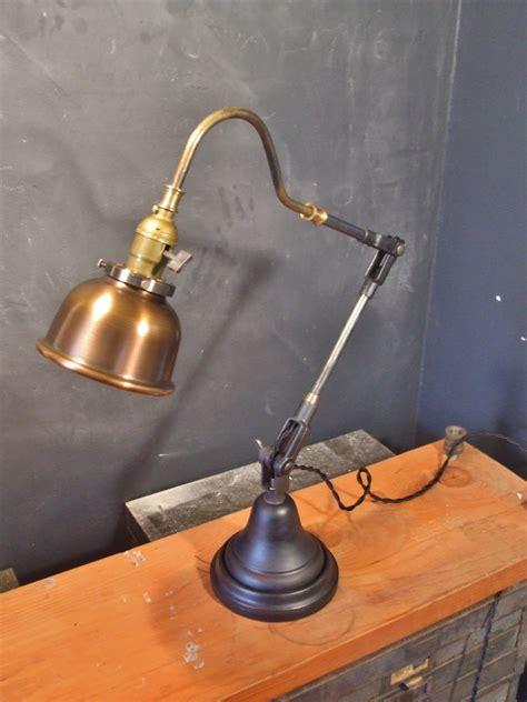 vintage industrial l shades vintage industrial style desk l w copper shade 183 dw