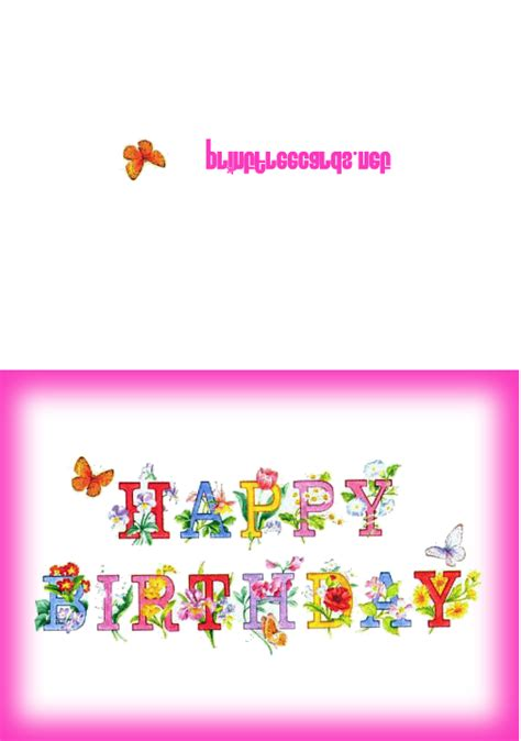 Free Wish Gift Card - free printable birthday cards free birthday greeting cards