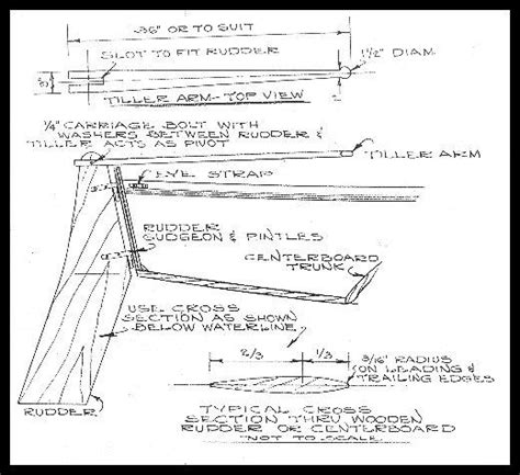 how to build a boat rudder typical small boat rudder glen l boat plans