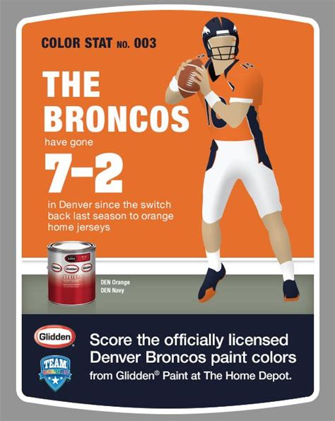 1 gal nfl 172b nfl denver broncos orange flat interior paint and primer