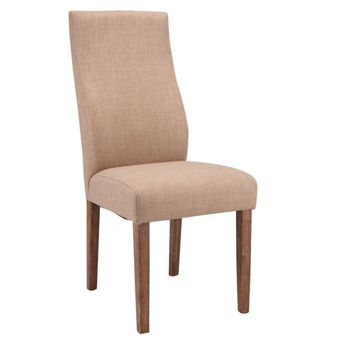 High Back Upholstered Dining Chairs by Set Of 2 Fabric Upholstered High Back Armless Dining