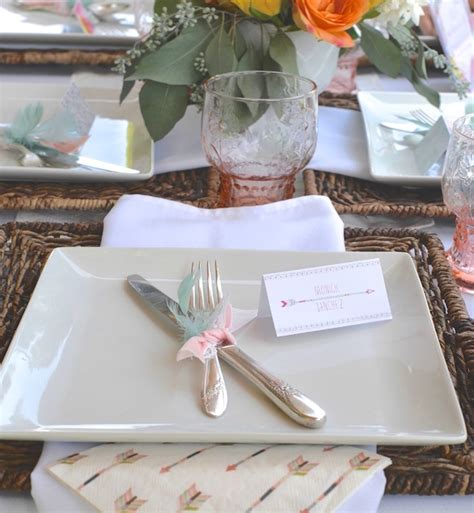 Baby Shower Place Setting Ideas by Modern Boho Baby Shower Baby Shower Ideas Themes
