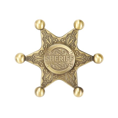 sheriff badge metallic fidget spinner planet x store for toddlers pakistan