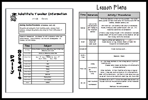 substitute lesson plan template following optimism in 2nd grade sick days and sub plans
