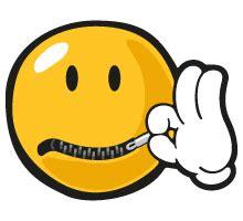 emoji zipped mouth emo smiley