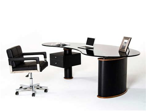 Modern Office Desk In Black And Walnut Vg116 Desks Modern Office Furniture Desk