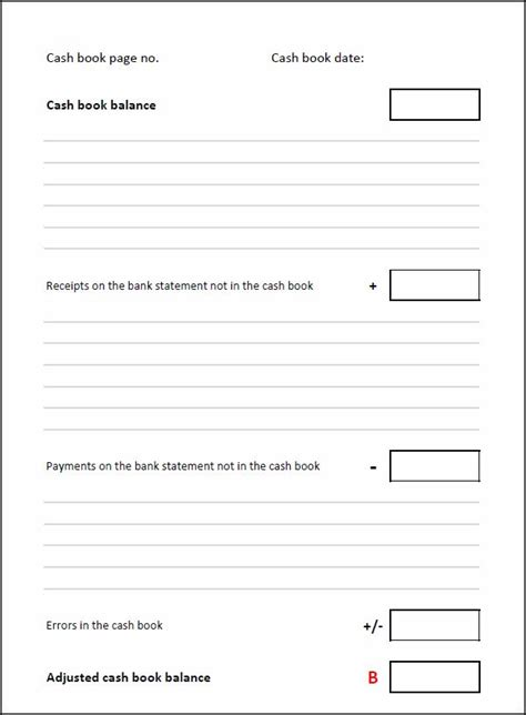 Bank Reconciliation Template Double Entry Bookkeeping Reconciliation Template Accounting
