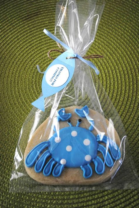 Fish Themed Baby Shower by Fish Themed Baby Shower Cookie Favor Diy Baby Shower