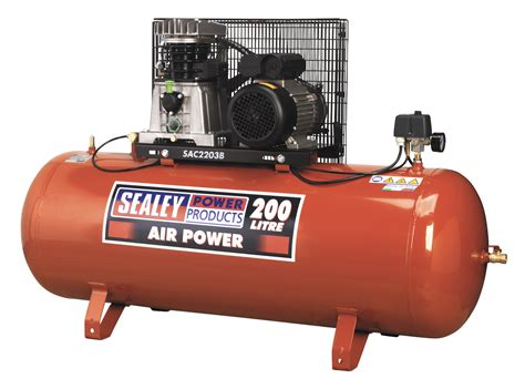sealey heavy duty belt drive air compressors 230v tools today