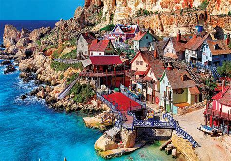 popeye village popeye village malta jigsaw puzzle puzzlewarehouse com