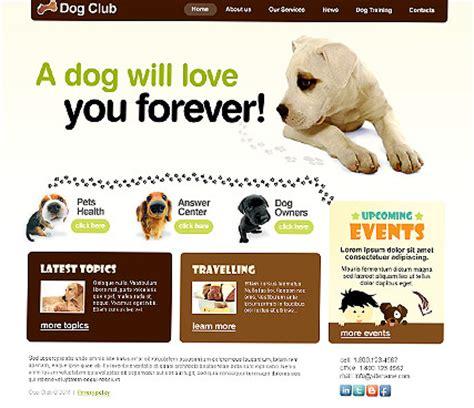 puppy websites club html website template best website templates