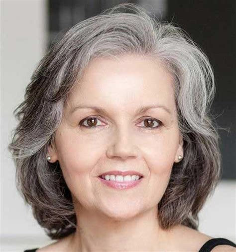 gray hair at 60 years 15 haircuts for women over 60 long hairstyles 2017
