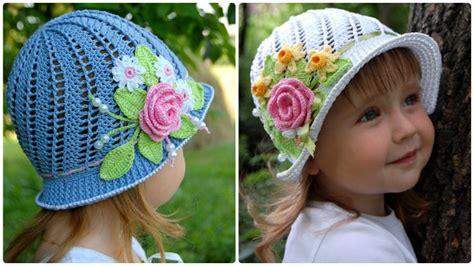 Flower Hat crochet panama flower hat free pattern