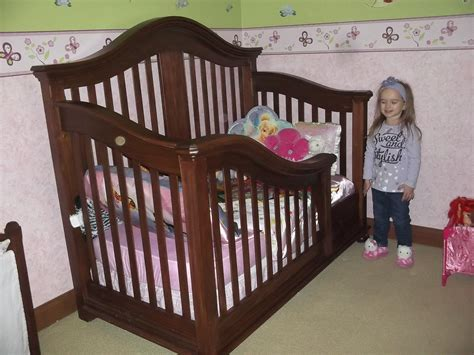 handmade toddler bed conversion from baby crib my