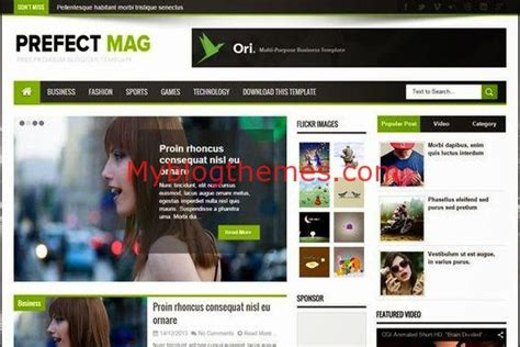 themes blogger 2015 green magazine myblogthemes