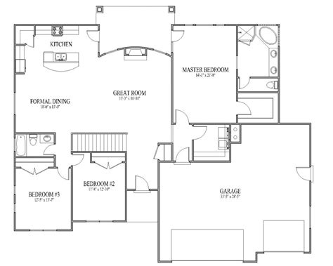 rambler open floor plans rambler house plan monarch main floor decobizz com