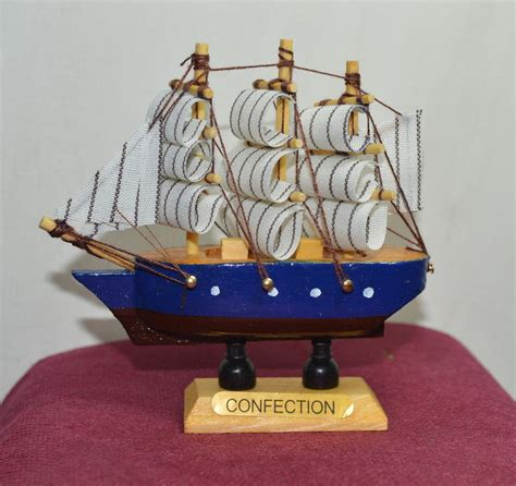 4x new vintage nautical wooden wood ship sailboat boat