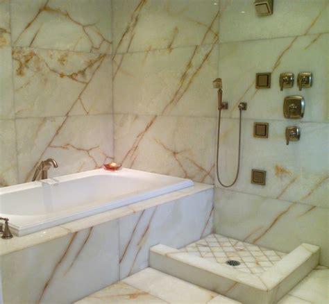 white onyx master bathroom modern bathroom seattle