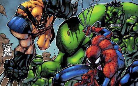 imagenes chidas de x men hulk personnage comique comics spider man wolverine