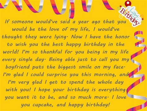 Birthday Special Life Story | romantic birthday paragraphs for your boyfriend happy