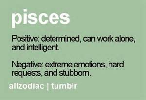 positive and negative traits of a pisces think pisces