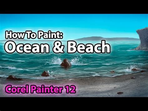 waou tutorial 1 how to make a beach rock rug digital painting how to paint an ocean beach corel