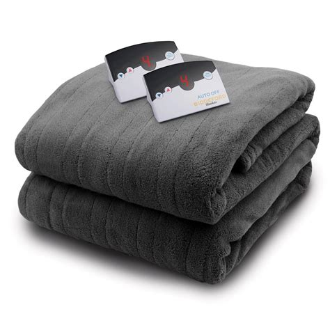 biddeford blankets 2033 series micro plush heated 84 in x