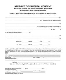 affidavit of parental consent form template sle parental consent form 10 free documents in word pdf