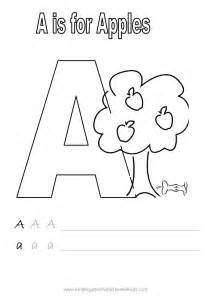 Letter a coloring pagea is for apples letter a coloring sheeta is for