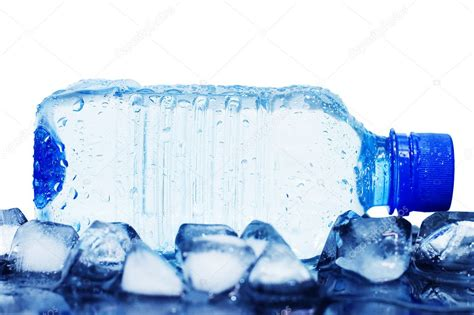 google images water cold mineral water bottle with ice cubes stock photo