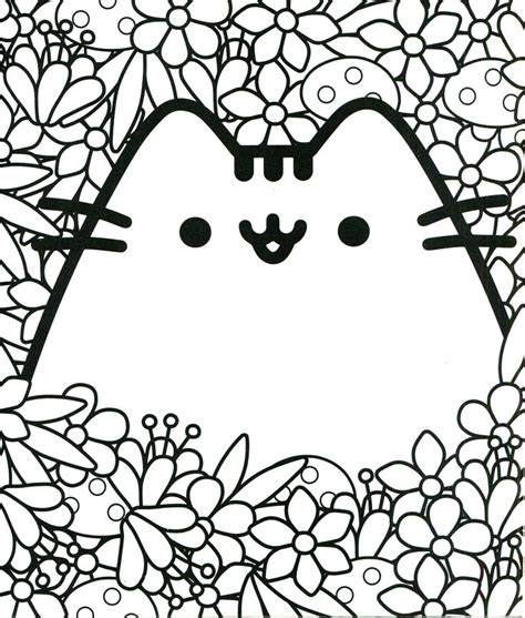 94 best pusheen coloring book images on