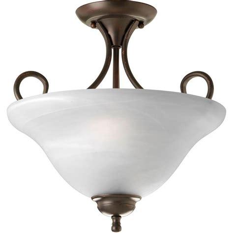 home depot flush mount led light progress lighting mingle 17 watt antique bronze integrated