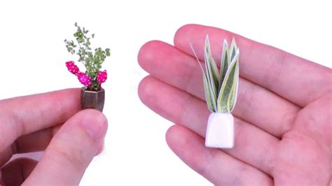 how to make doll house things diy miniature dollhouse plants how to make miniature dollhouse things youtube