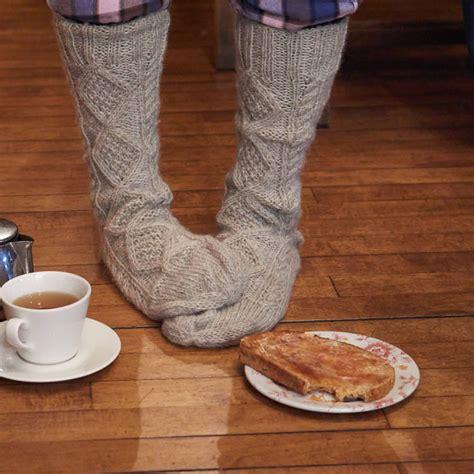 knitting pattern aran socks cosy aran knitted socks by bibico notonthehighstreet com