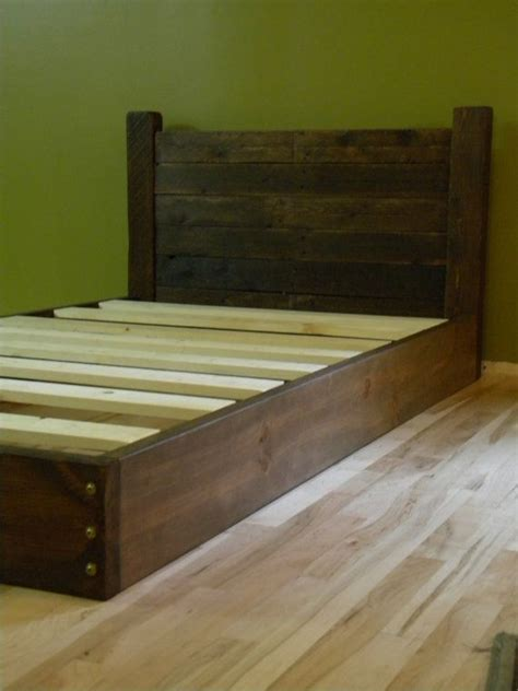 twin bed frame wood platform bed twin bed low profile bed bed frame headboard reclaimed wood on etsy