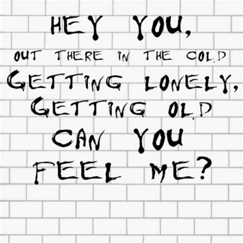 testo the wall pink floyd hey you can you feel me d h pink