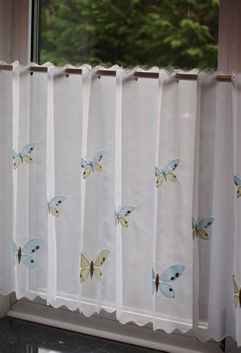 cafe curtain panels olivio butterfly curtains butterfly white cafe net