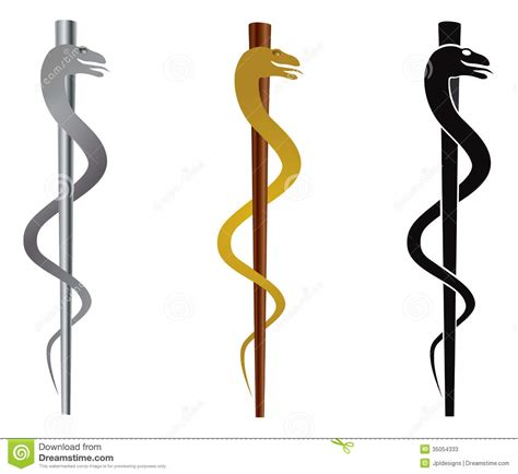 rod of asclepius illustration stock photos image 35054333