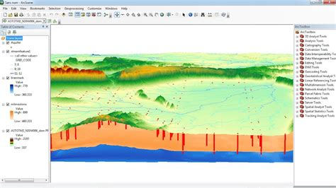 arcgis arcscene tutorial how to visualise aquifer surfaces using arcgis arcscene