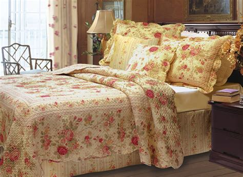 quilted comforter set antique rose quilted bedding by greenland home fashions